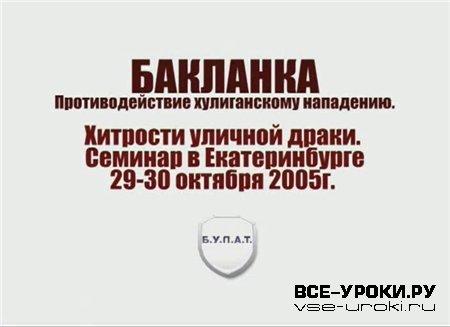 Бакланка: Противодействие хулиганскому нападению (2005) CamRip