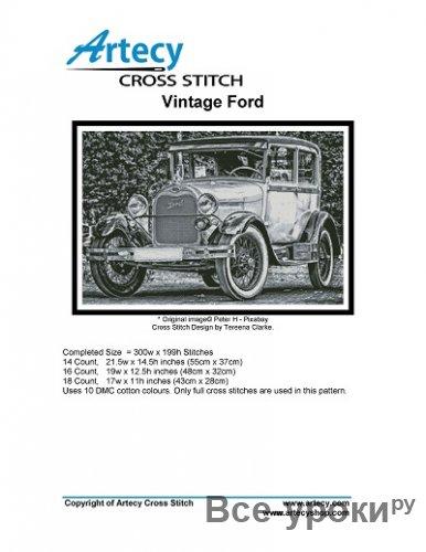 Artecy Cross Stitch - Vintage Ford