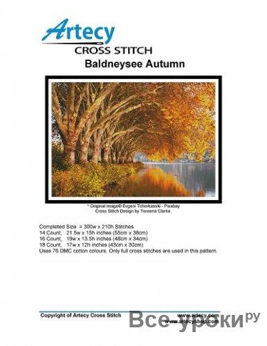 Artecy Cross Stitch - Baldneysee Autumn